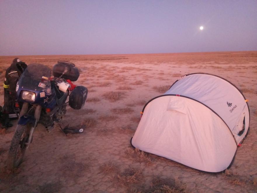 Immagine del campeggio di Liberi di Andare al confine dell'Uzbekistan