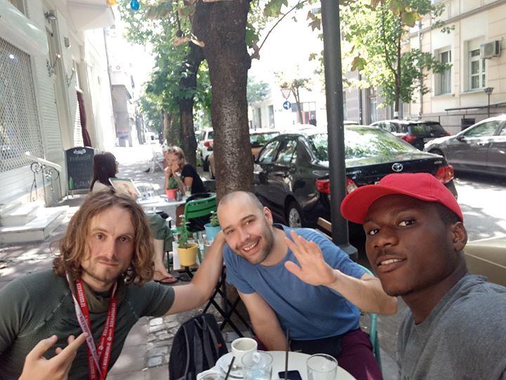 Immagine di Francesco Belgrano e i nuoci amici incontrati a Belgrado