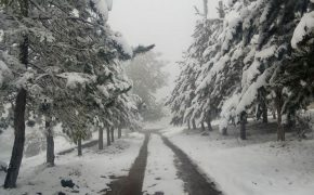Immagine di neve a Bishkek in Kirghizistan